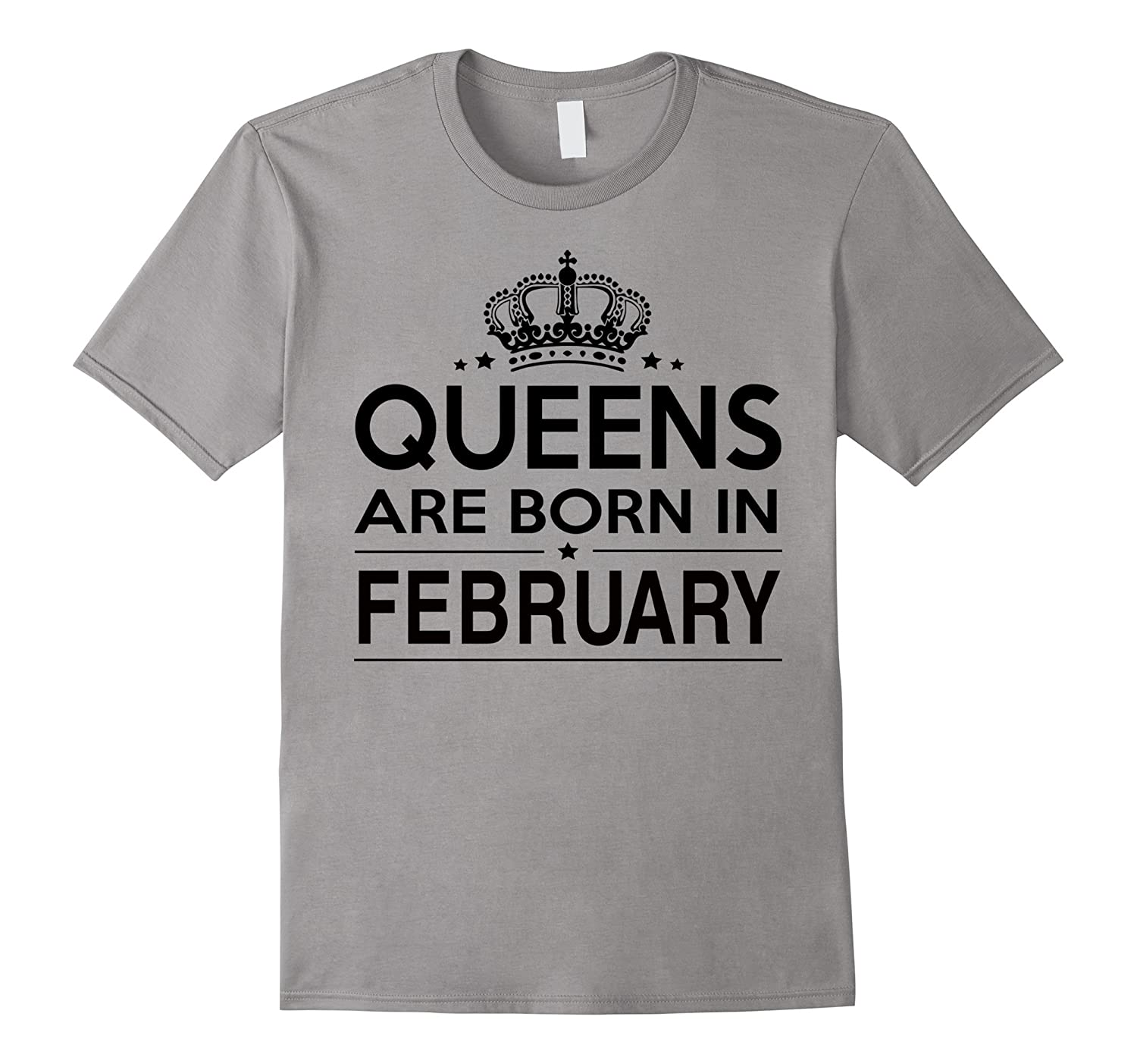 Queens Are Born In February Womens White T-Shirt-TD