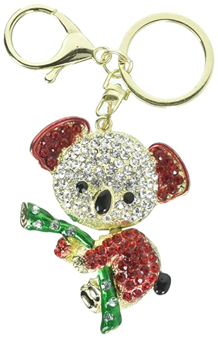 Cooplay Cute Lovely Fashion Koala Bear Animal Diamond Crystal Rhinestone  Gold Crystal Keychain Charm Pendent Beautiful 8d9c80ff7d