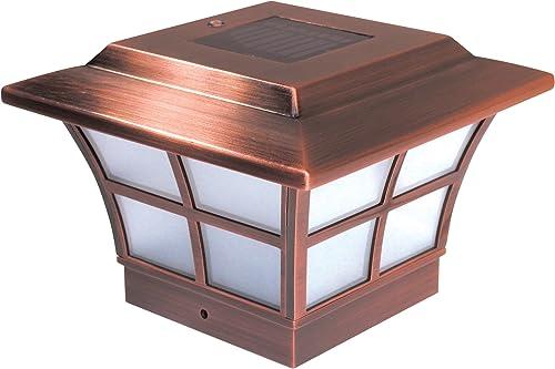 Set of 6 Classy Caps PVC PRESTIGE SOLAR POST CAP 4×4 SL079C copper
