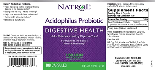 Картинки по запросу natrol acidophilus probiotic