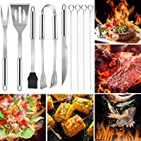 BBQ Tools Set RabbitStorm - Parrilla de Herramientas de Barbacoa Conjunto 9 Piezas Set Utensilios para Asador Carne…