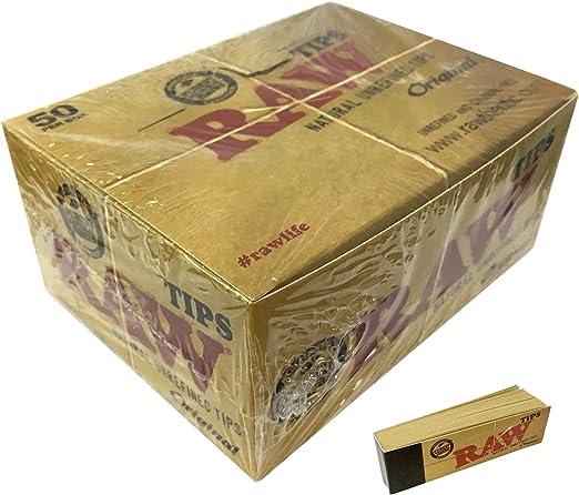 Raw - Filtros de Cartón para Fumar (50 libritos de 50 hojas)