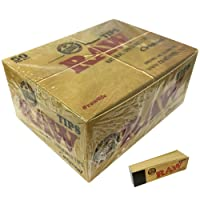 Raw Paper Tips, Brown, Pack of 50