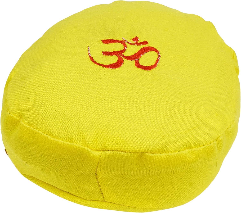Crystal Bowl; by Mandala Crafts Ring Pillow Decorative Stand for Himalayan Mediation Tibetan Singing Bowl Cushion 5 Inches Tradional Cushion, Blue