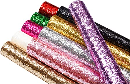 Bow Supplies Faux Leather Chunky Geometric Glitter Bundle Synthetic Leather Printed Faux Leather Sheet Chunky Glitter Canvas