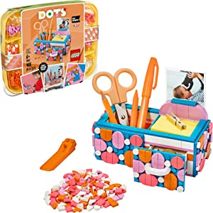 LEGO DOTS Desk Organizer 41907 DIY Craft Decorations Kit for Kids who Like Designing and Redesigning Their Own Room Decor Items to Use, Makes a Fun and Inspirational Gift, New 2020 (405 Pieces)