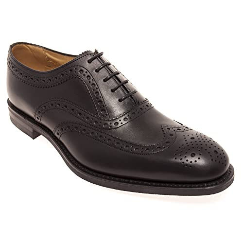 Loake bovey Men's Oxford Brogue Shoes In Black Calf Leather 103:  Amazon.co.uk: Shoes & Bags