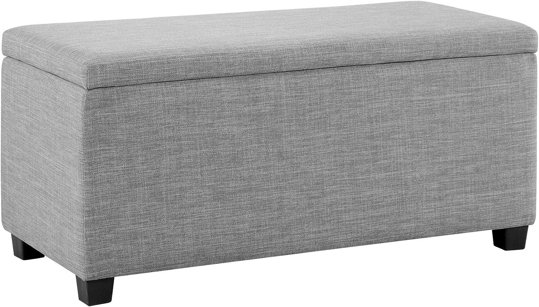 Amazon Basics Upholstered Storage Ottoman and Entryway Bench, 35.5