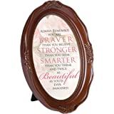 Braver Smarter Beautiful 6 x 8 Woodgrain Finish Oval Shaped Picture Frame