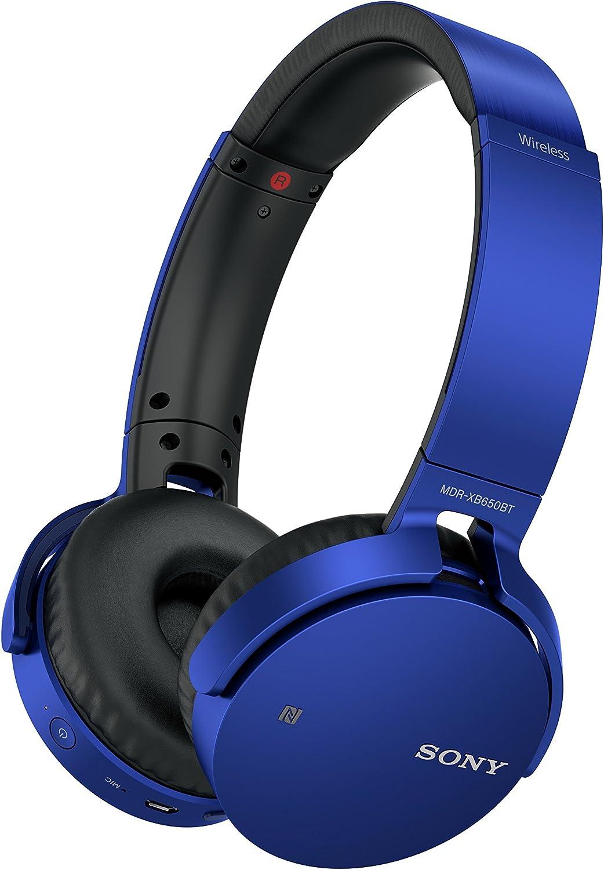 Sony MDRXB650BT Extra Bass, auriculares inalámbricos para colocar sobre las orejas - Azul
