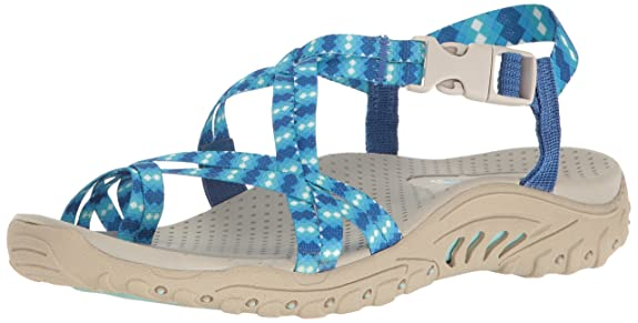 Skechers Women s Reggae-Loopy Sandal Fashion Sandals at amazon