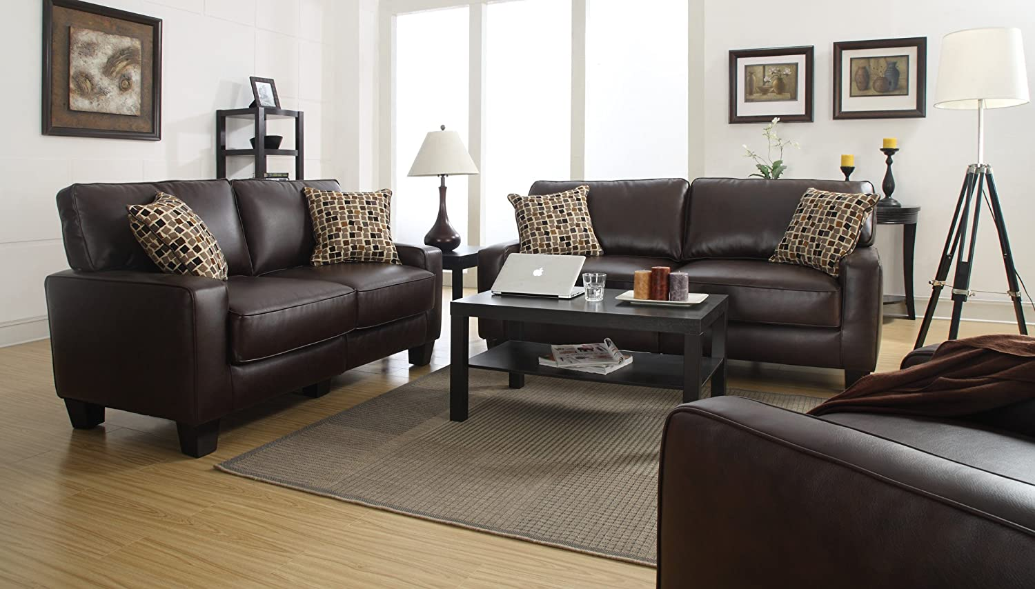 olympian collection loveseat sofa chocolate and couch products furniture upholstery my serta stationary