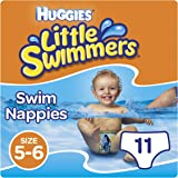 Huggies Little Swimmers Disposable Swim Nappies, Size 5-6 - 11 Pants Total