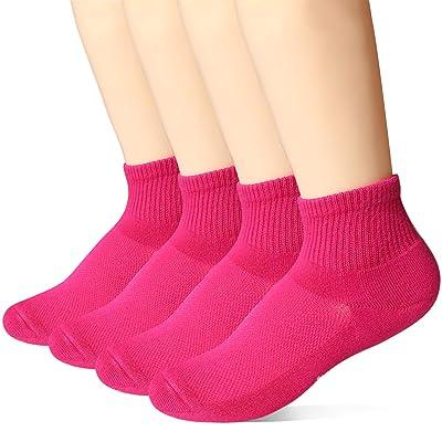 +MD Calcetines de 4 pares de medias deportivas para mujer, zapatillas de bambú para fitness, tenis, trote, todos los días: Ropa y accesorios