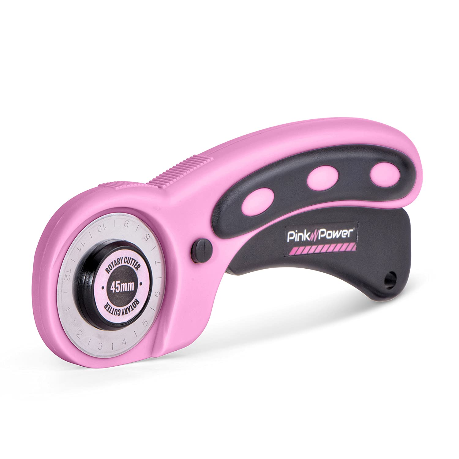 Pink Power 45mm Rotary Cutter for Fabric, Scrapbooking, Quilting and Sewing 4336850584
