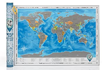 Amazoncom Discovery Map World World Map With Scratch Off - Detailed world map