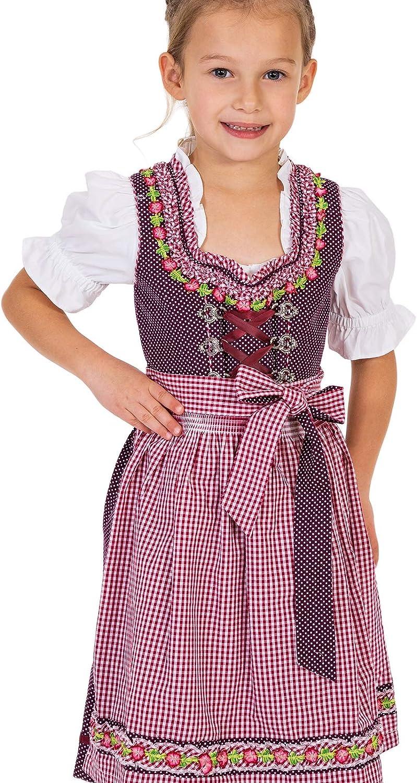 MarJo Traditional Children Dirndl Modell BLANDA-Kids Plum