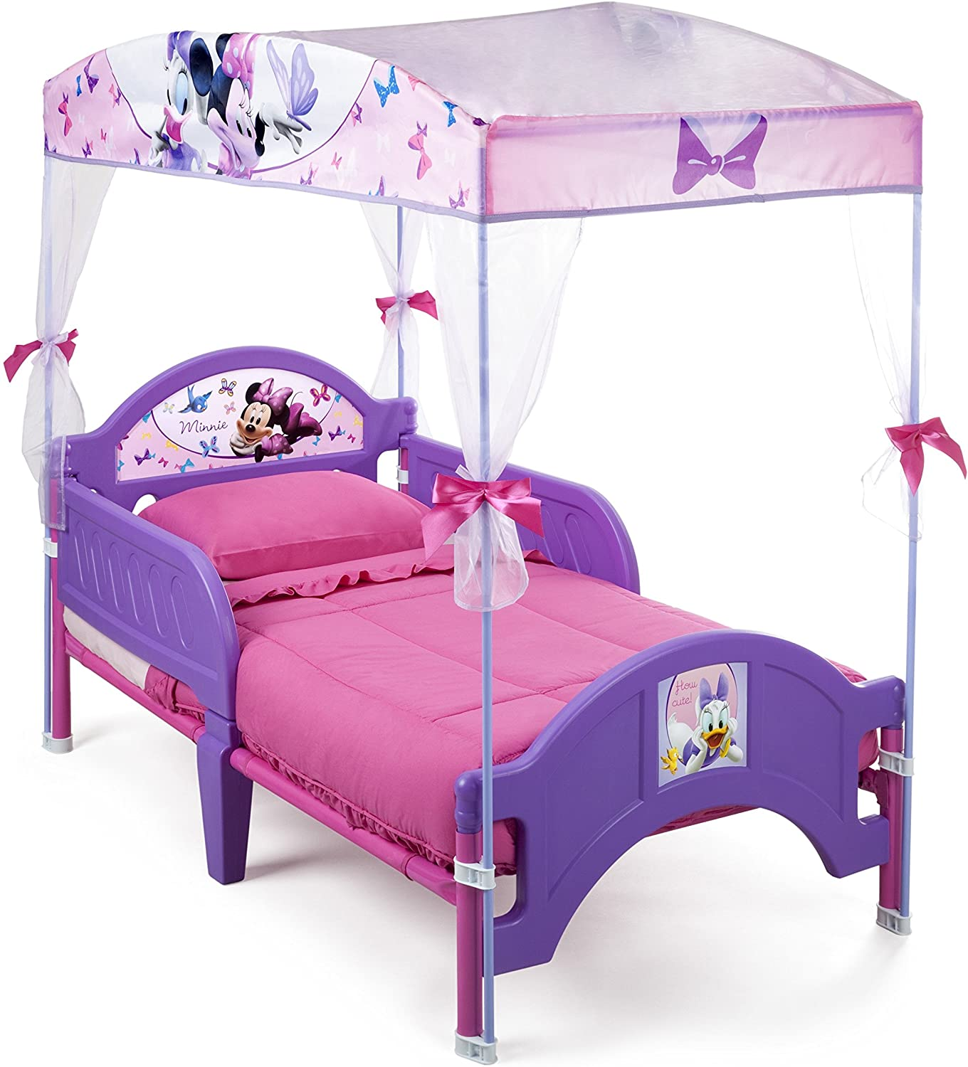 Delta Children s Products Minnie Mouse Canopy Toddler Bed