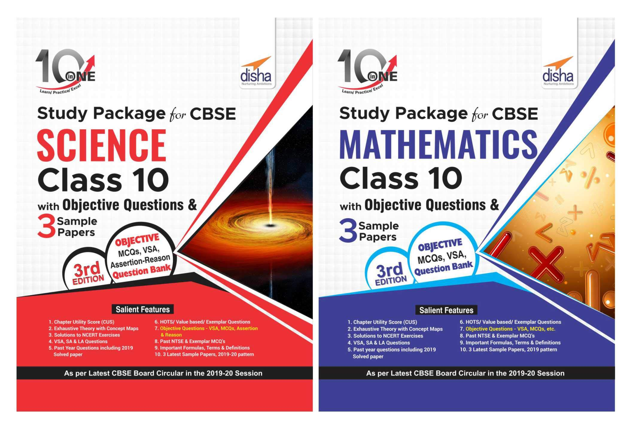 Combo 10 in One Study Package for CBSE Science & Mathematics