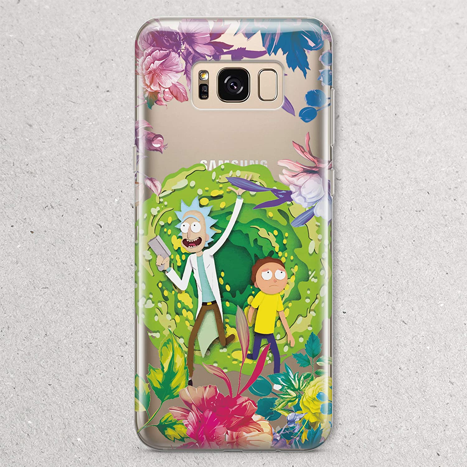 size 40 a9bf0 1d024 Amazon.com: Rick and Morty Portal Gun for Samsung Galaxy S9 S8 Plus ...