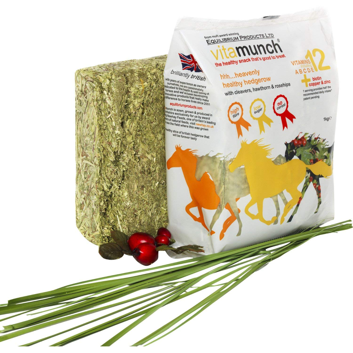 Equilibrium Vitamunch Heavenly Hedgerow Horse Treats 1kg Clear by Equilibrium Technologies