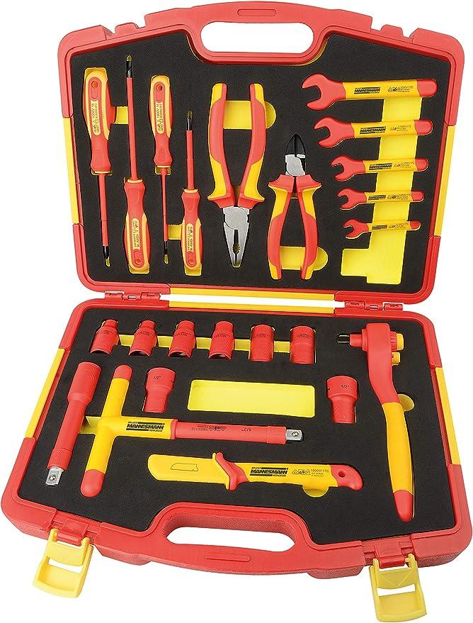 Mannesmann - M11212 - Juego de herramientas VDE, 24 piezas.: Amazon.es: Bricolaje y herramientas