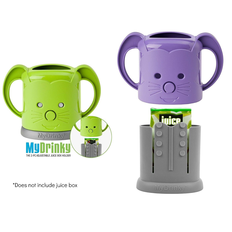 MyDrinky The Adjustable Juice Box Holder 2 Pack Grape//Raspberry