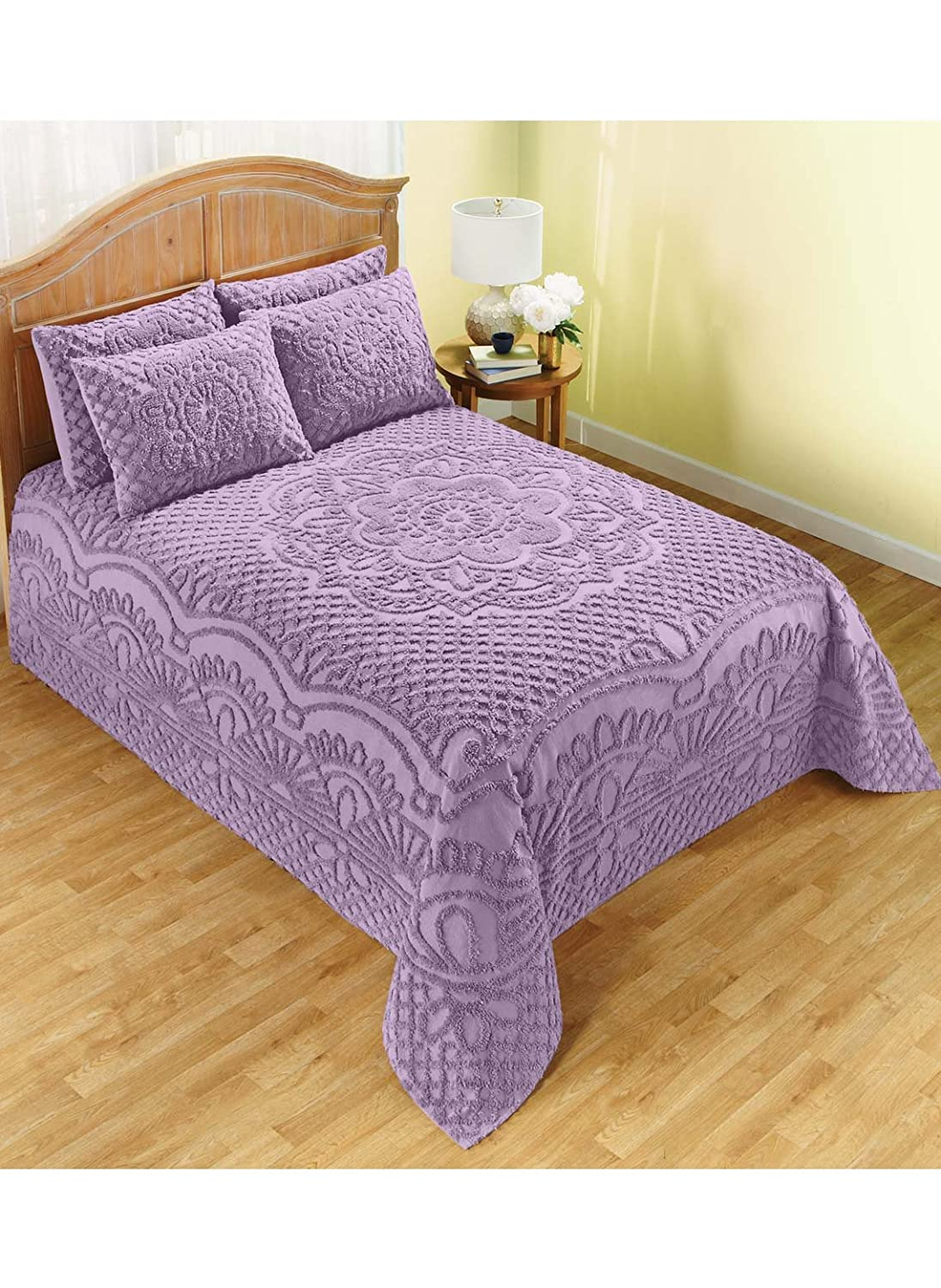 Carol Wright Gifts Trevara Bedspread - Full, Color Lavender, Lavender, Size Height:5.0(Unit:inches),Length:18.0(Unit:inches.