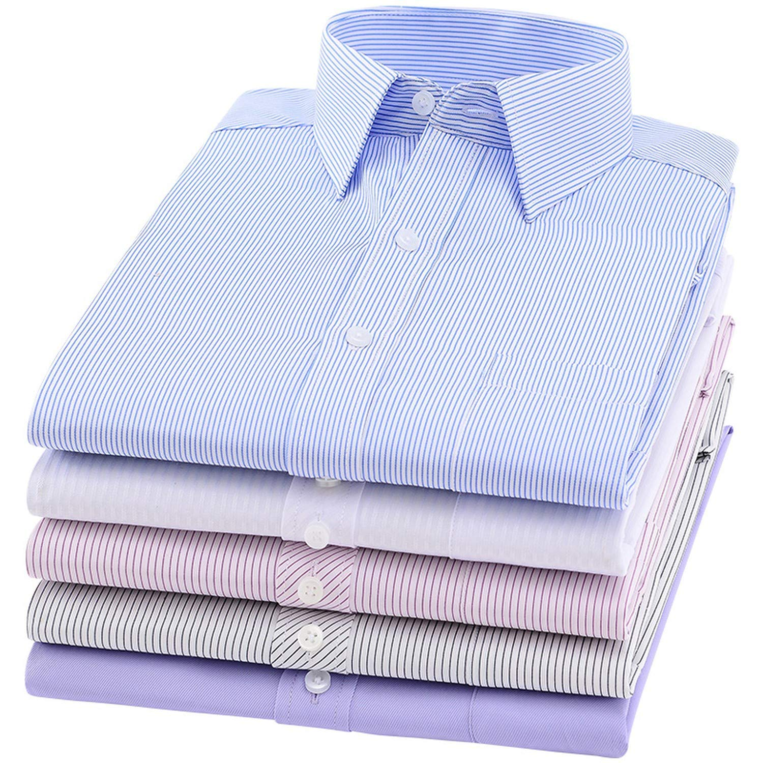 Mens Long Sleeve Button Down Shirts Solid Color Casual Shirts