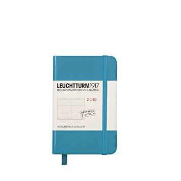 LEUCHTTURM1917 355134 Agenda semanal 2018 Mini (A7), azul ...