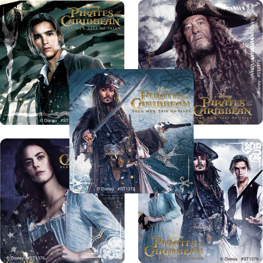Pirates of The Carribean: Dead Men Tell No Tales 2017 Movie Party Supplies Cutlery /& Stickers Standard Party Pack Amscan Cups Disney Pirates of The Caribbean Party Pack Seats 8 Napkins Plates