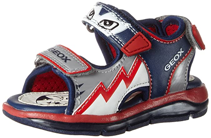 Geox B Sandal Todo Boy A, Chaussures Marche Bébé Garçon, Bleu (Grey/NAVYC0665), 25 EU