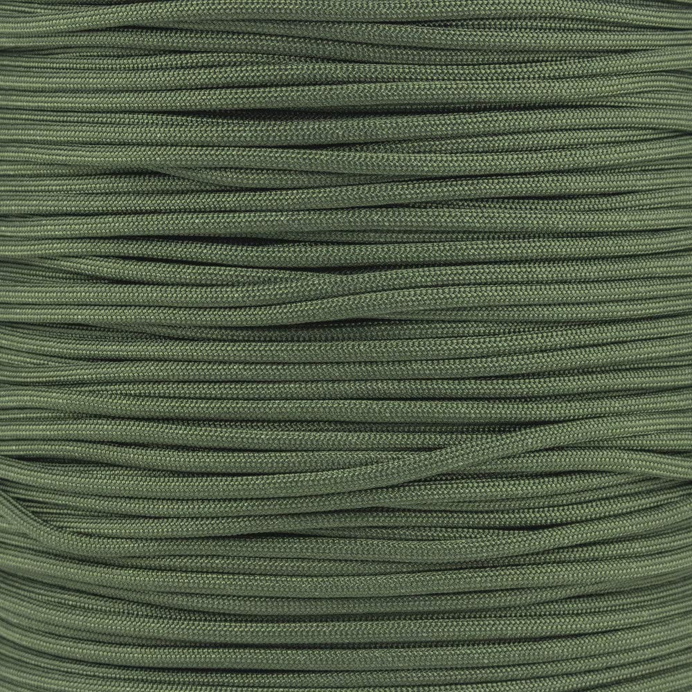 Mil Spec Type III 550 Paracord - 7 Strand Core - Camo Green - Nylon Commercial Grade, Parachute Cord, Survival Cord - 10 Ft Hank