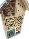 """Lantern Hill Multi-Chambered Insect House, Designed Especially for Your Favorite Garden Friends, 7.3"""" x 6"""" x"""