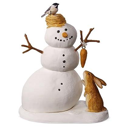 hallmark keepsake 2017 marjolein bastin winter white snowman christmas ornament