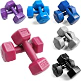 BESTIF Womens Short   Dumbbell Dumbbells Set for Women Hexagon Dumbbell Weights Dumbbell Set Plastic Pack of 2  Fitness Gym Aerobic (Weight and Colour Selection 1-4kg