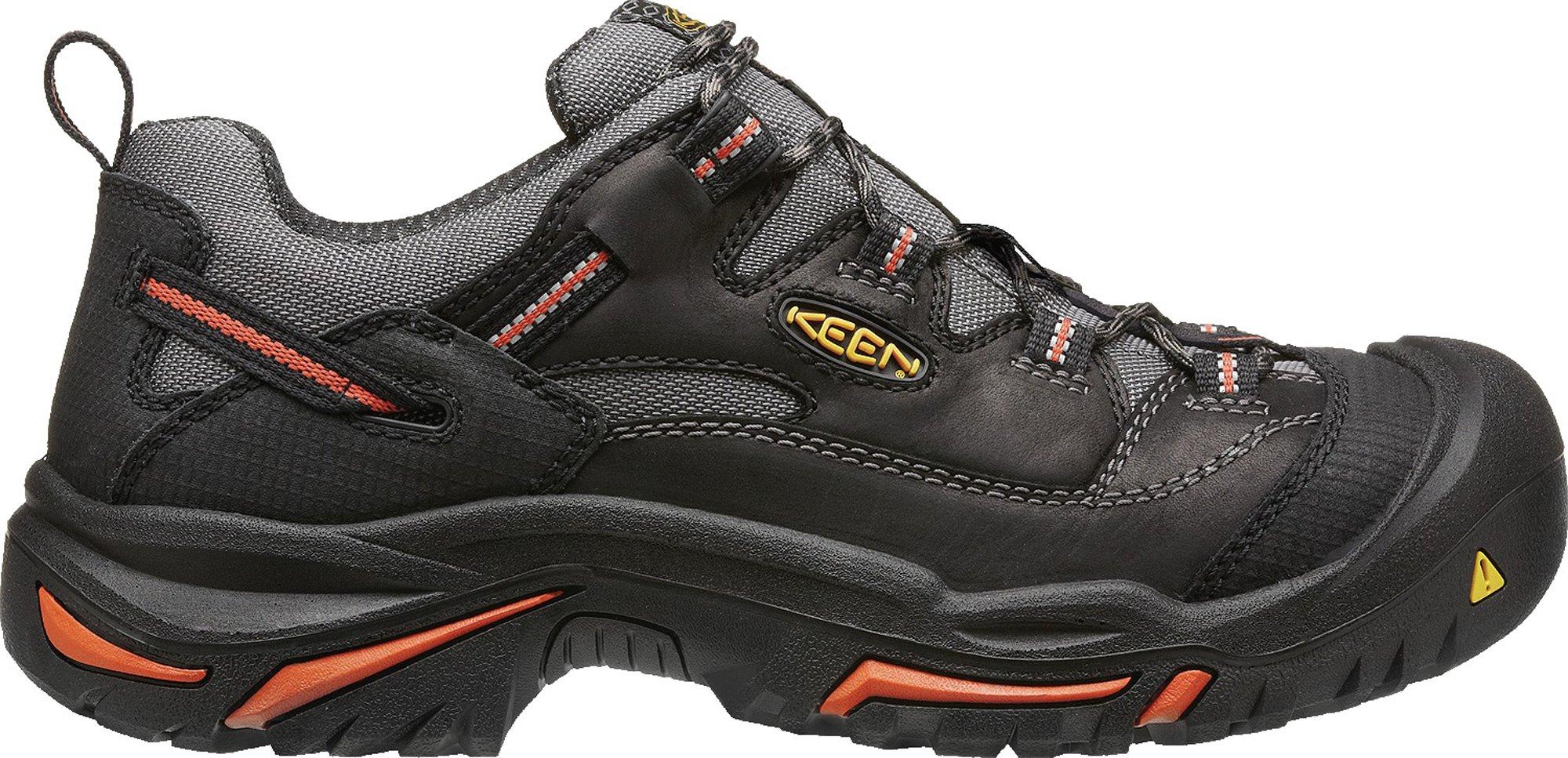 KEEN Utility Men's Braddock Low Steel-Toed Boot,Black/Bossa Nova,10.5 D US