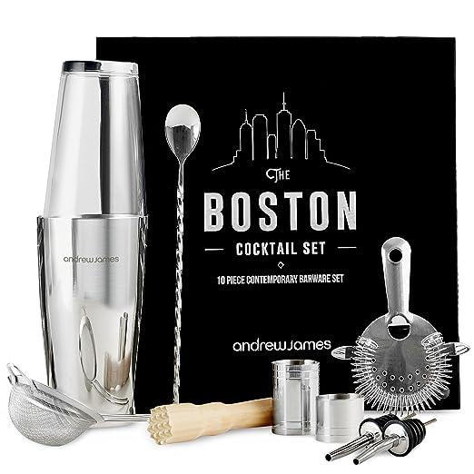 4 opinioni per Andrew James lusso set da cocktail Boston 10 pezzi con libro da cocktail e