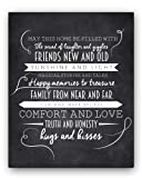 """Amazon Price History for:""""May This Home"""" Chalkboard Typography Wall Sign by Ocean Drop Designs, The Perfect New Home or Housewarming Gift"""