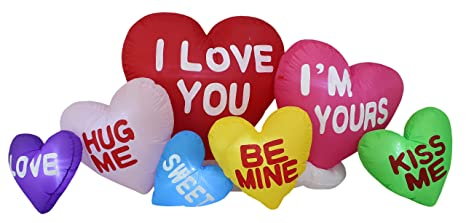 15ce7f7d7d953 BZB Goods 6 Foot Long Valentine's Day Inflatable Love Hearts Cloud ...