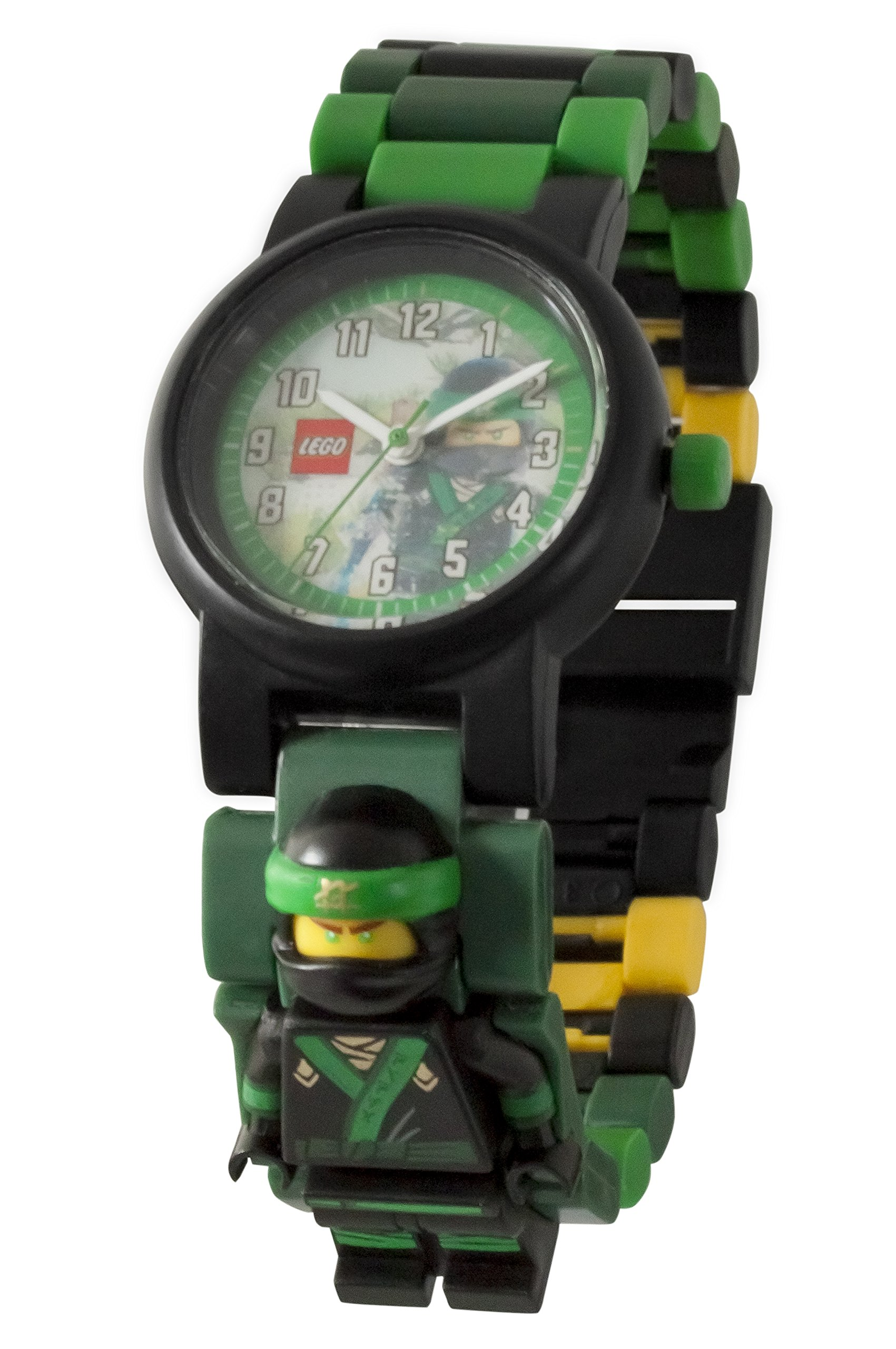 LEGO Boy's Quartz Plastic Casual Watch, Color:Green (Model: 8021100)