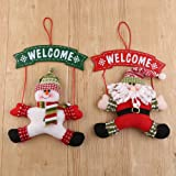 Fensterdeko Weihnachtsdekoration Weihnachtsmann und Schneemann für Türdekoration