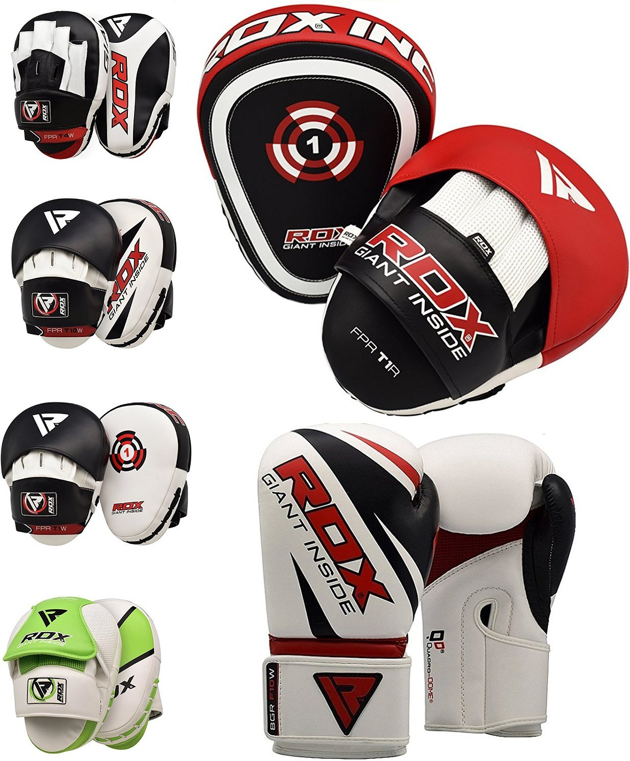 RDX Boxing Pads Focus Punch Mitts MMA Training Punching Hook and Jab Strike Pads Target With Punching Gloves
