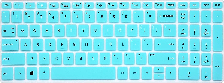 "Silicone Keyboard Cover Skin for for 15.6"" HP Pavilion x360 15-br075nr, Pavilion 15-cc 15-cb Series 15-cc010nr 15-cb010nr, HP Envy x360 15m-bp 15m-bq Series, HP Envy 17.3"" 17m-ae011dx (Mint Green)"