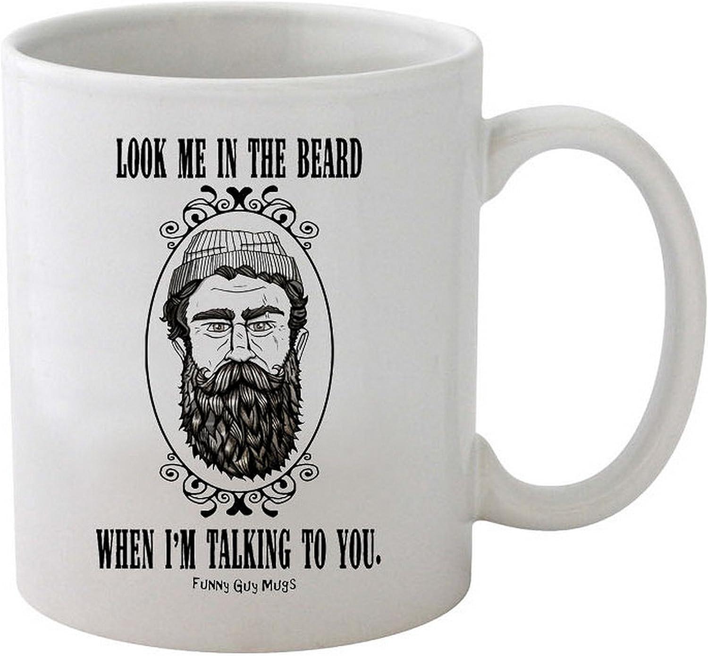 Touch My Beard Coffee Mug Funny Birthday Ceramic Coffee Mug Gift Men Women