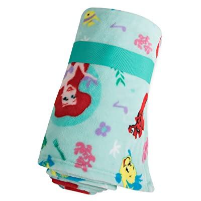 Disney Ariel, Flounder, and Sebastian Fleece Throw - - The Little Mermaid: Home & Kitchen