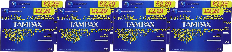 Pack of 160 Tampax Blue Box Regular Tampons
