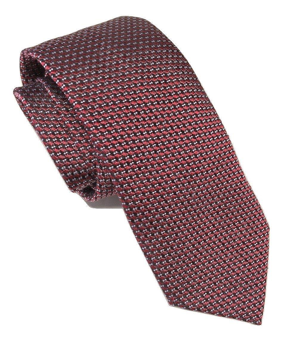 18ccbbc7 New Men's Ermenegildo Zegna Red Geometric Pattern Italian Silk Tie ...