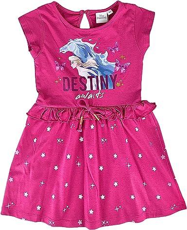 Vestido de niña Disney Frozen manga corta vestido de algodón estampado 2823: Amazon.es: Ropa y accesorios