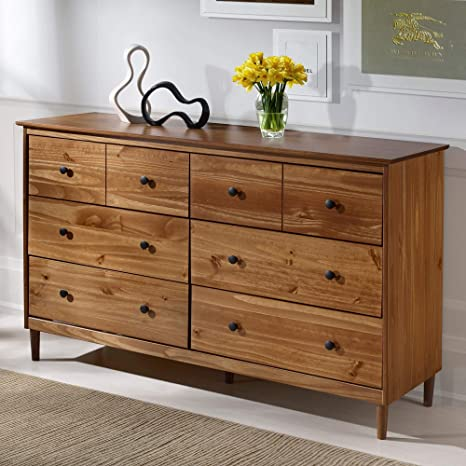 Image Unavailable. Image Not Available For. Color: Classic Mid Century  Modern 6 Drawer Solid Wood Dresser ...